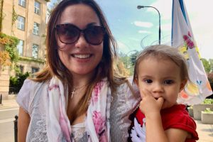 Siljei Garmai (Silje Garmo) ir jos 2 metų dukra Eira | KRISTENKOALISJON.NO nuotr.