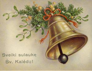 Tarpukario kalėdinis atvirlaiškis | KTU nuotr.