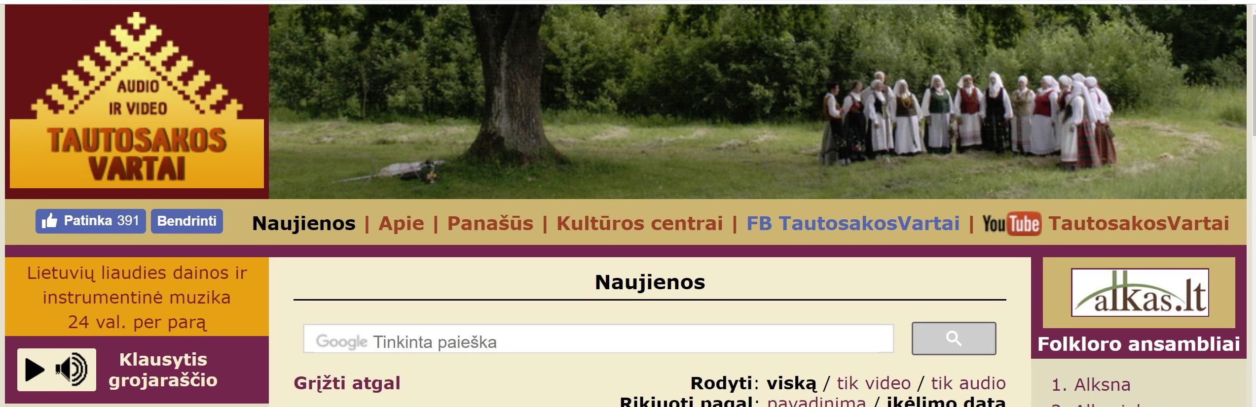 WWW.Tautosakosvartai.lt
