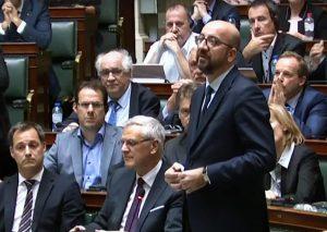 Belgijos Ministras pirmininkas Čarlis Mišelis | youtube.com nuotr.