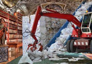 Naikinamos valstybinės reikšmės bibliotekos | Alkas.lt koliažas