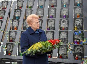 Prezidentė D. Grybauskaitė Kijeve išreiškė Lietuvos paramą Ukrainai | lrp.lt, R. Dačkaus nuotr.