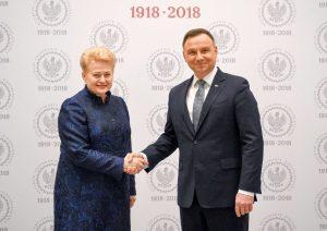 Dalia Grybauskaitė susitinka su Andžejumi Duda | lrp.lt nuotr.