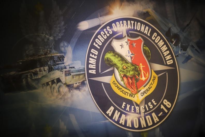 """Krašto apsaugos ministerijos ir Gynybos štabo vadovybė lankėsi pratybose """"Anakonda-18""""   Srž. sp. I. Budzeikaitės nuotr."""