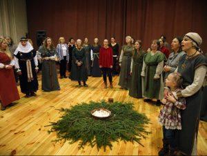 Romuva švenčia žiemos saulėgrįžą | Alkas.lt, V. Daraškevičiaus nuotr.