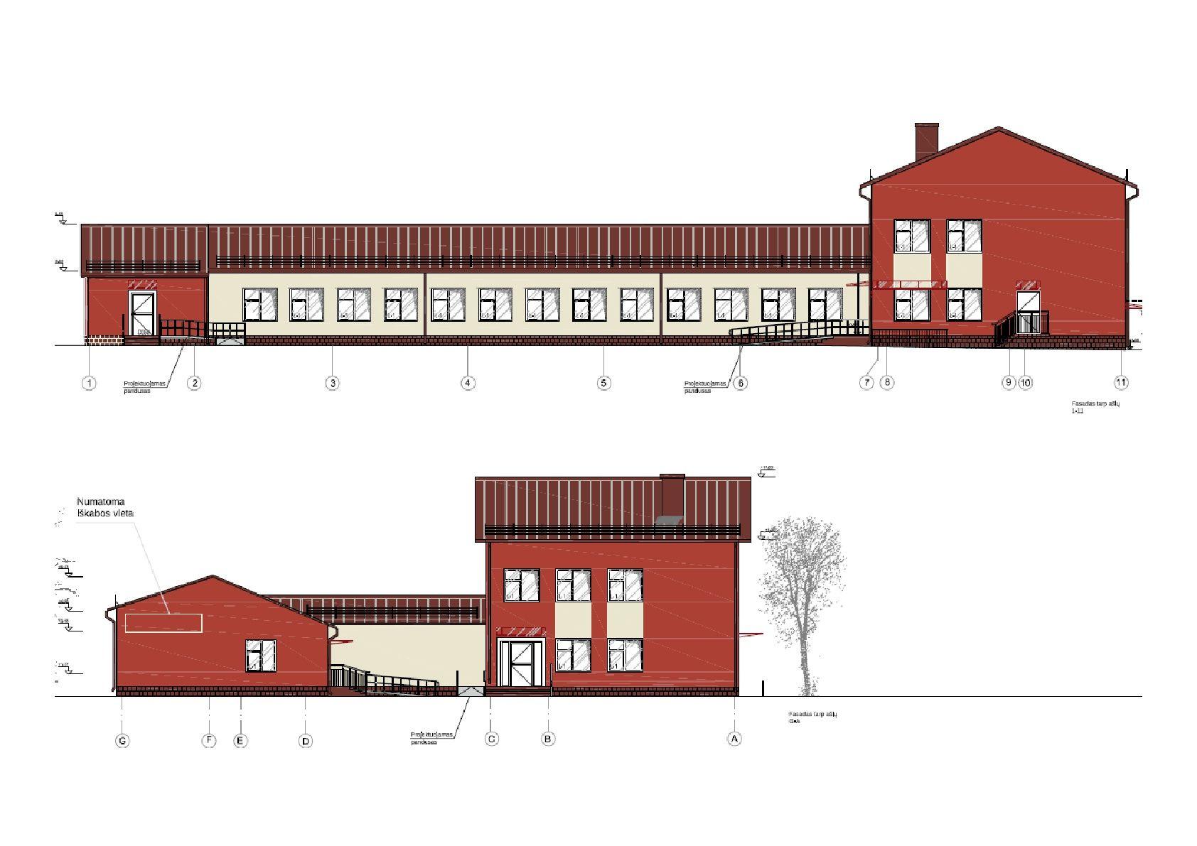 Rekonstravus buvusios Girininkų mokyklos pastatą, čia įsikurs senelių namai Rokų gerovės centras, bus sukurta 15 naujų darbo vietų | Kauno rajono savivaldybės nuotr.