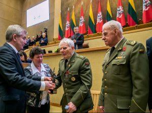 2018 m. Laisvės premija įteikta Lietuvos Laisvės Kovos Sąjūdžio partizanų grupei | lrs.lt, Dž.G.Barysaitės nuotr.