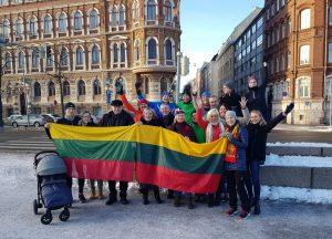 """Pagarbos bėgime """"Gyvybės ir mirties keliu"""" aktyviai dalyvavo užsienio lietuviai   T. Razmaus nuotr."""