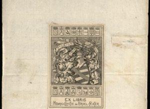 LMAVB_RSS P-144 exlibris | Vrublevskių bibl. nuotr.