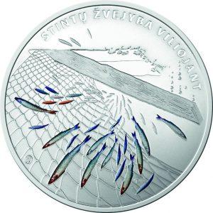 Kolekcinė moneta, skirta stintų žvejybos tradicijai   lb.lt nuotr.