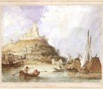 Napoleonas Orda. Beaucaire. 1839. Popierius, akvarelė | LMA Vrublevskių bibliotekos nuotr.