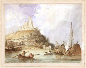 Napoleonas Orda Beaucaire 1839 Popierius ir akvarelė | LMA Vrublevskių bibliotekos nuotr.