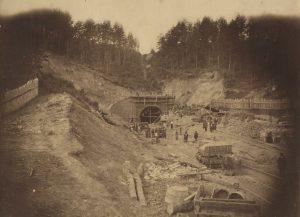 Panerių tunelio statyba. Vilnius 1860 m. | A. Korzono, LMAVB RSS nuotr.