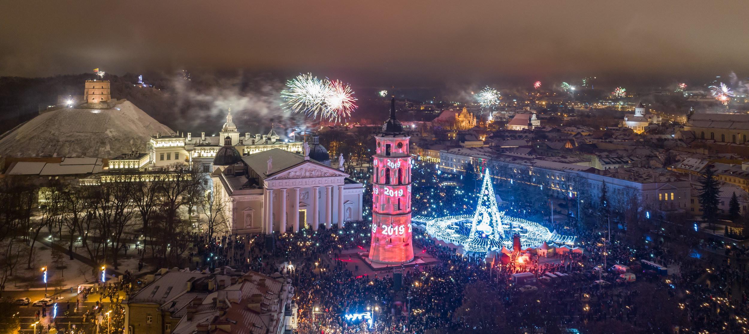 Vilnius pasitinka 2019 metus | S. Žiūros nuotr.