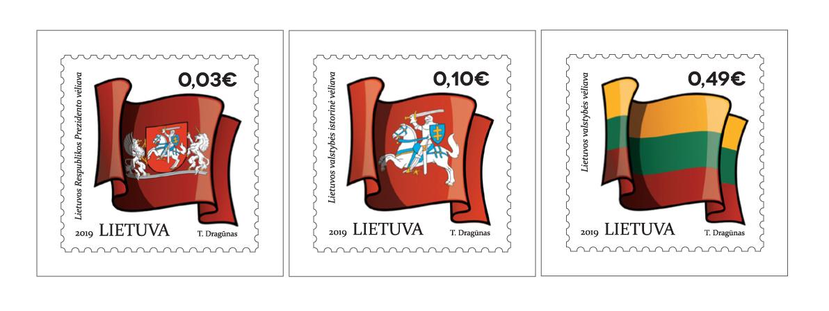 Vėliavų ženklai | Lietuvos pašto nuotr.