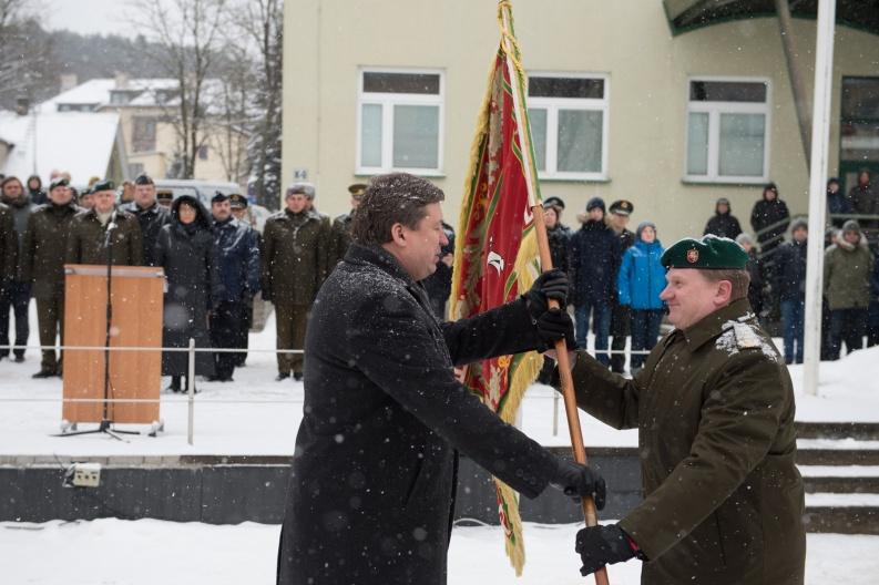 Lietuvos karo akademijai vadovauti pradeda pulkininkas Juozas Kačergius | A. Pliadžio nuotr.