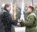 Nepriklausomybės aikštėje – Krašto apsaugos savanorių pajėgų įkūrimo 28-ųjų metinių minėjimas, taip pat Baltijos šalių ir Lenkijos savanorių pajėgos pasirašys bendradarbiavimo susitarimus | KASP nuotr.