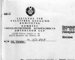 KGB dokumentai | Alkas.lt nuotr.