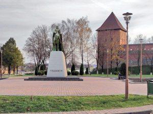 Būsimas valdovo Gedimino paminklas Lydoje | www.racyja.com nuotr.