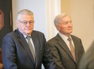 Antanas Gudelis (dešinėje) ir Albertas Sinkevičius | S.Žiūros nuotr.