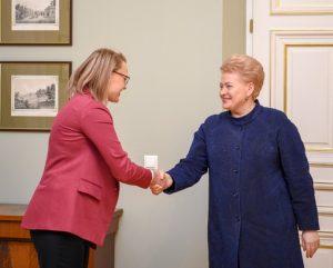 I.Gudžiūnaitės susitikimas su Prezidente | lrp.lt nuotr.