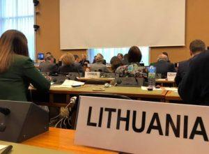 Lietuvos atstovai Ženevoje ESPO konferencijoje   am.lt nuotr.