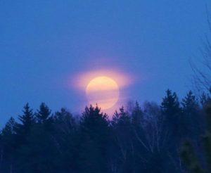 Supermėnulio tekėjimas 2019-02-19 | Alkas.lt, J. Vaiškūno nuotr.