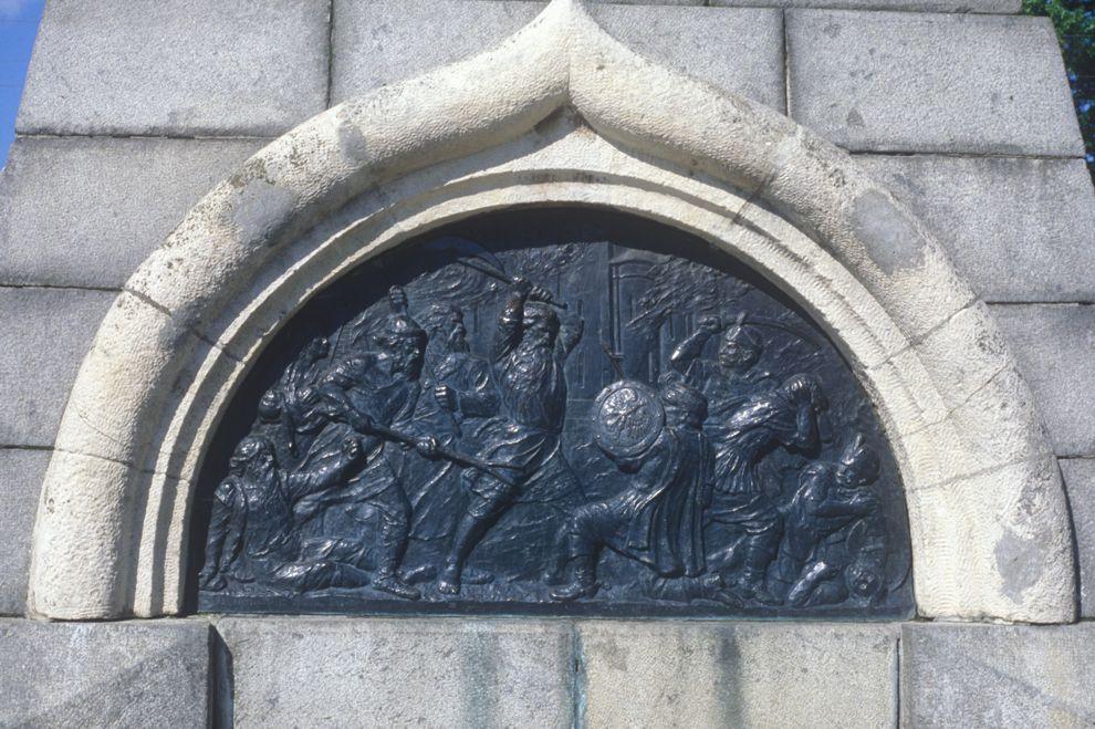 Paminklo Vologdos miesto 800-mečiui fragmentas | cultinfo.ru, V.K. Brumfieldo nuotr.