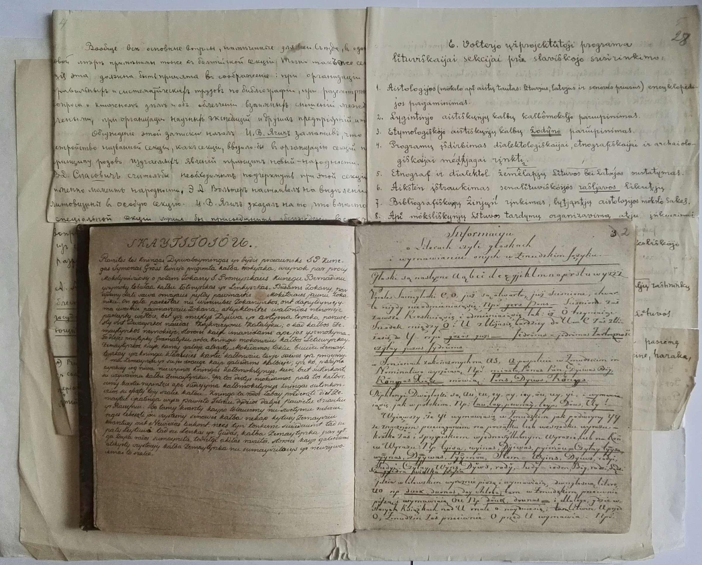 Rankraščiai 1835-1931 m.   Rengėjų nuotr.