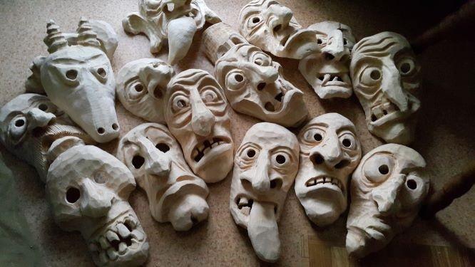 Užgavėnių kaukės | S.Tamulio nuotr.