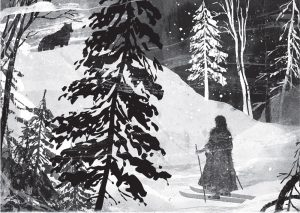 """Vilkų mergaitė"". iliustravo Gelrev Ongbico   leidyklos ""Nieko rimto"" nuotr."