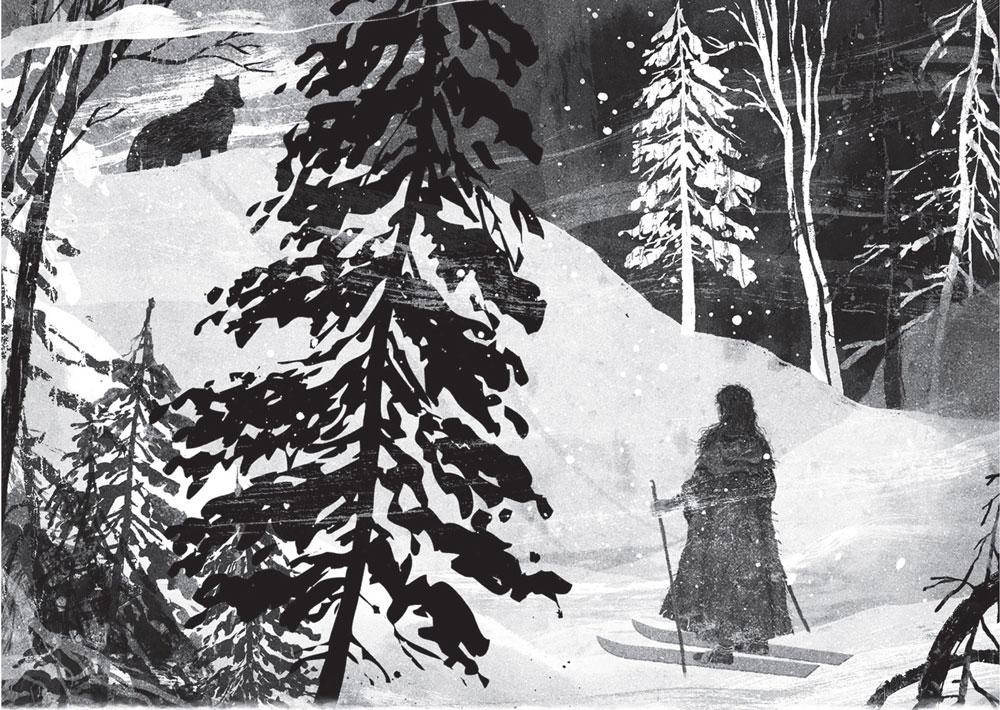 """Vilkų mergaitė"". iliustravo Gelrev Ongbico | leidyklos ""Nieko rimto"" nuotr."