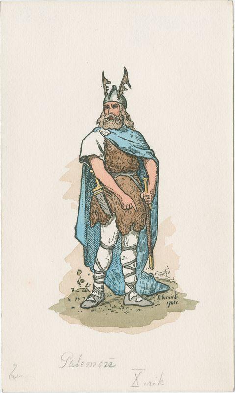 Palemonas. Mečislovo Barvickio piešinys 1908 m. ČDM Mg 6545/2   limis.lt nuotr.