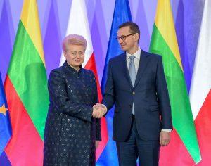 Prezidentė Dalia Grybauskaitė susitiko su Lenkijos Ministru Pirmininku | lrp.lt, R. Dačkaus nuotr.
