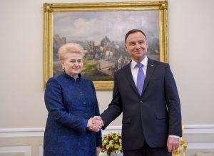 Dalia Grybauskaitė ir Andžejus Duda | lrp.lt, R. Dačkaus nuotr.