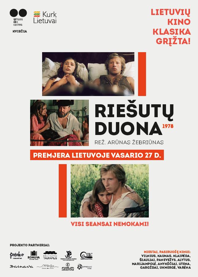 """""""Riešutų duona"""" plakatas   Lietuvos kino centro nuotr."""
