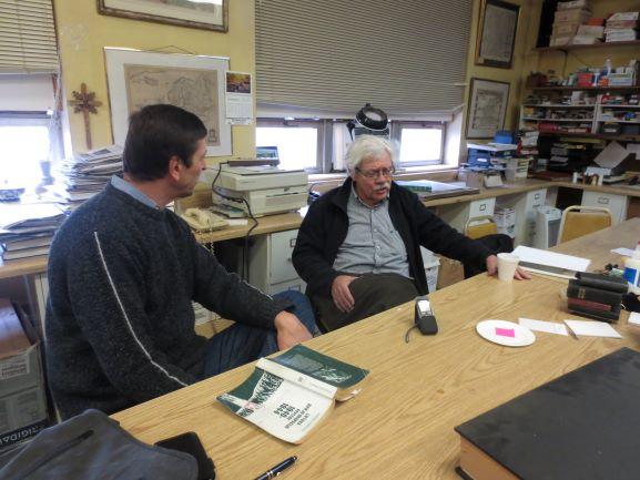 Vidmantas Valiušaitis ir Augustinas Idzelis. Čikaga, 2012 m. lapkričio 5 d. | Algio Kuzmicko nuotr.