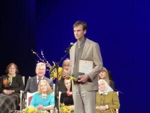 B.Petkevičaitės medalis įteiktas Vykintui Vaitkevicčui | A.Stalilionio nuotr.