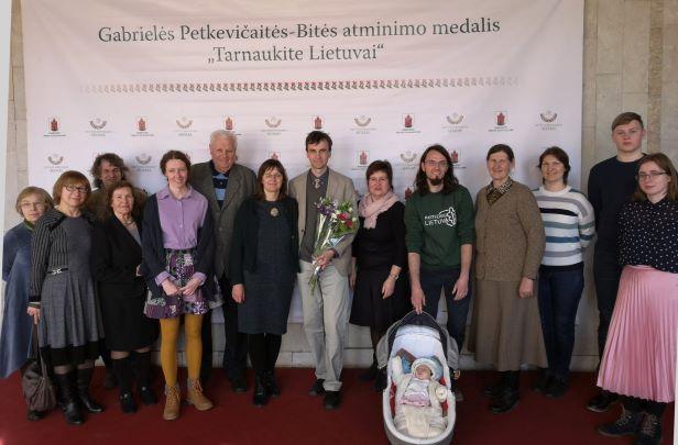B.Petkevičaitės medalis įteiktas Vykintui Vaitkevicčui   A.Stalilionio nuotr.