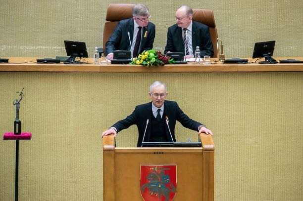Egidijus Bičkauskas kalba Kovo 11-osios minėjime Seime 2019 m. | lrs.lt nuotr.