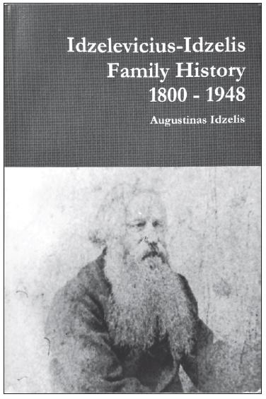 """Knygos """"Idzelių šeimos istorija"""" viršelis."""