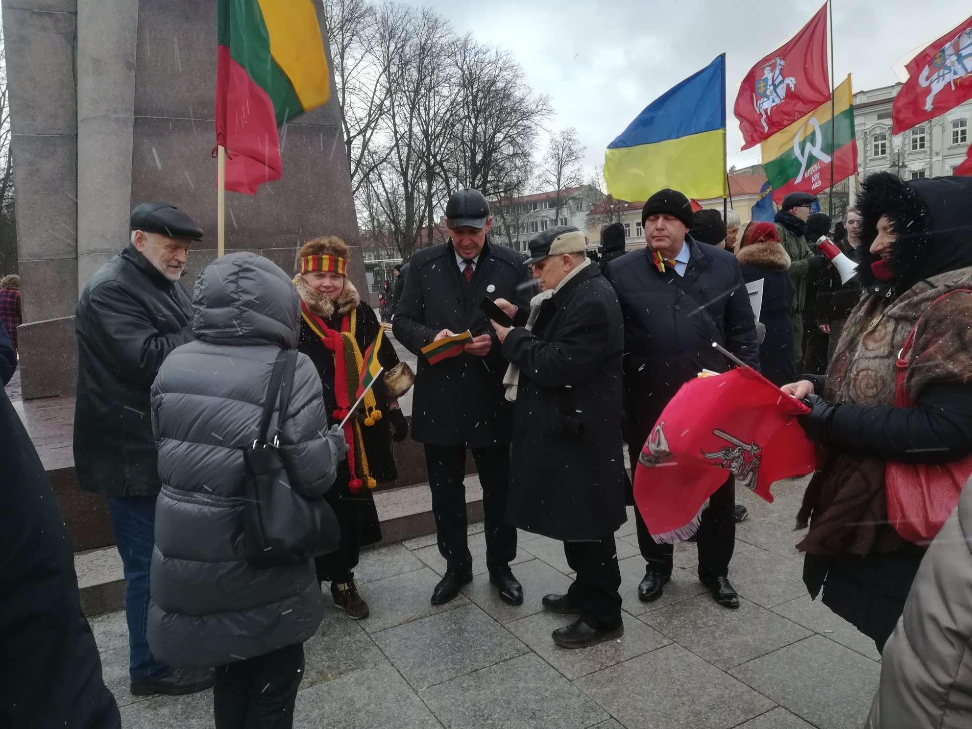 Ruošiantis Kovo 11-osios patriotinėms eitynėms Vilniuje. A.Juozaitis su Lietuva yra čia | J. Vaiškūno nuotr.