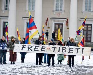 Piketas prie Kinijos ambasados. Laisvę Tibetui | rengėjų nuotr.
