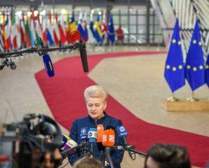 Prezidentė Europos parlamente | lrp.lt nuotr.