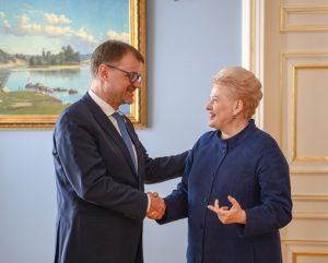 Suomijos premjero ir Lietuvos prezidentės susitikimas | lrp.lt nuotr.
