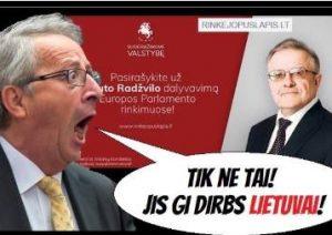 """Feisbuko"" reakcija į paramą V. Radžvilo komitetui | Raimondo Navicko koliažas, facebook.com/blogeris.zeppelinus"