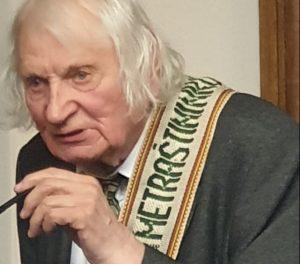 Kalba jubiliatas Albinas Kentra | A. Stričkos nuotr.