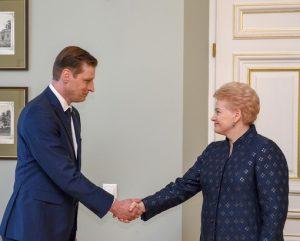 Prezidentė susitinka su Kęstučiu Mažeika | lrp.lt nuotr.