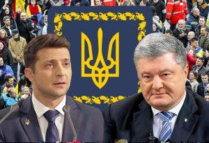 Prezidento rinkimai: Volodymyras Zelenskis prieš Petro Porašenko   Alkas.lt koliažas