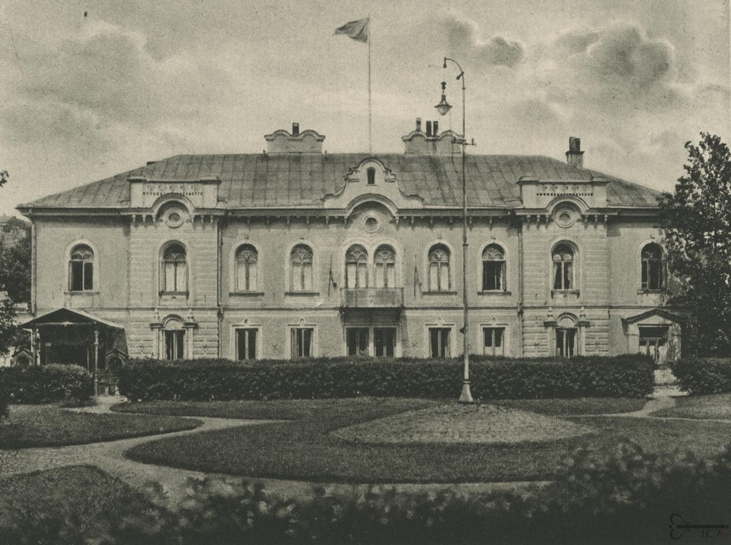 Lietuvos Respublikos Prezidentūros rūmai, Kaunas, 1921 m., LCVA, 0-011177 | virtualios-parodos.archyvai.lt nuotr.
